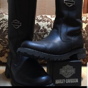 🧡 🖤Harley Davidson Leather Boots